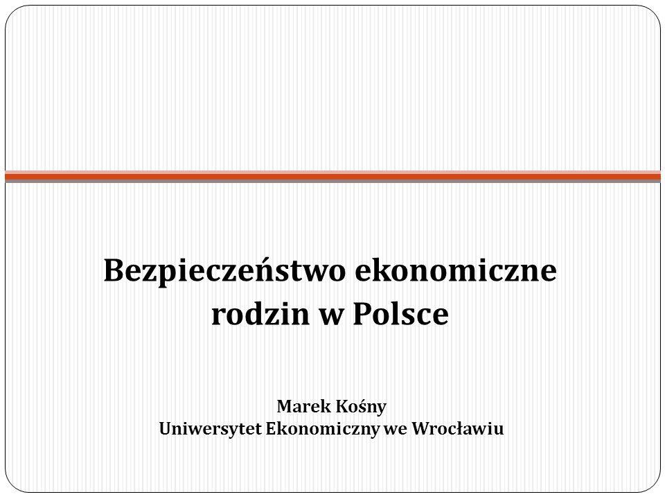 Bezpieczeństwo ekonomiczne rodzin w Polsce