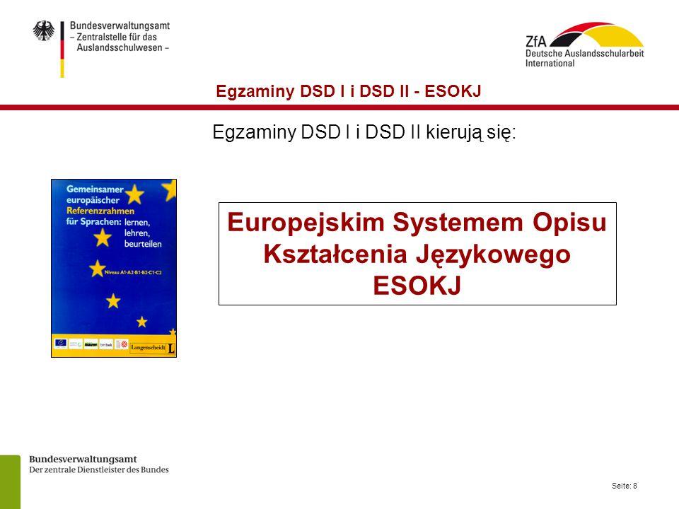 Europejskim Systemem Opisu Kształcenia Językowego ESOKJ