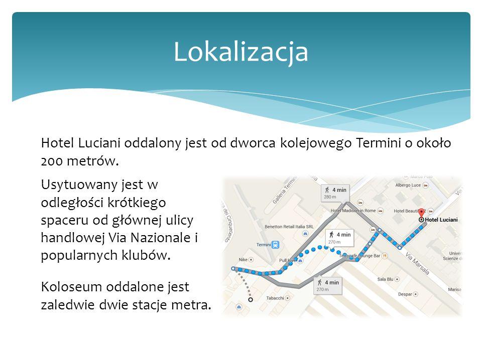 Lokalizacja Hotel Luciani oddalony jest od dworca kolejowego Termini o około 200 metrów.