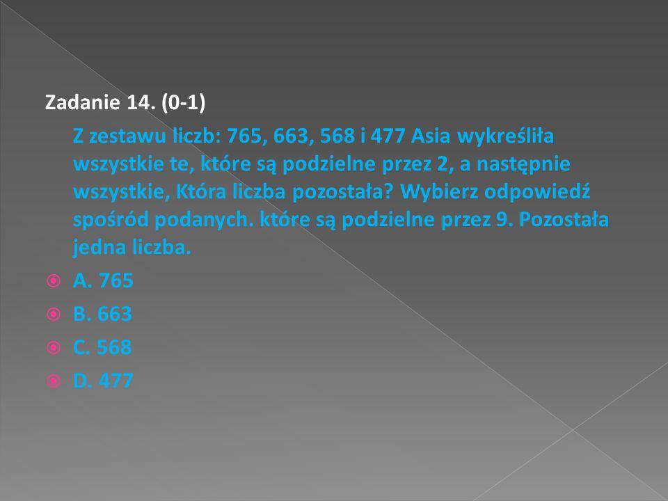 Zadanie 14. (0-1)