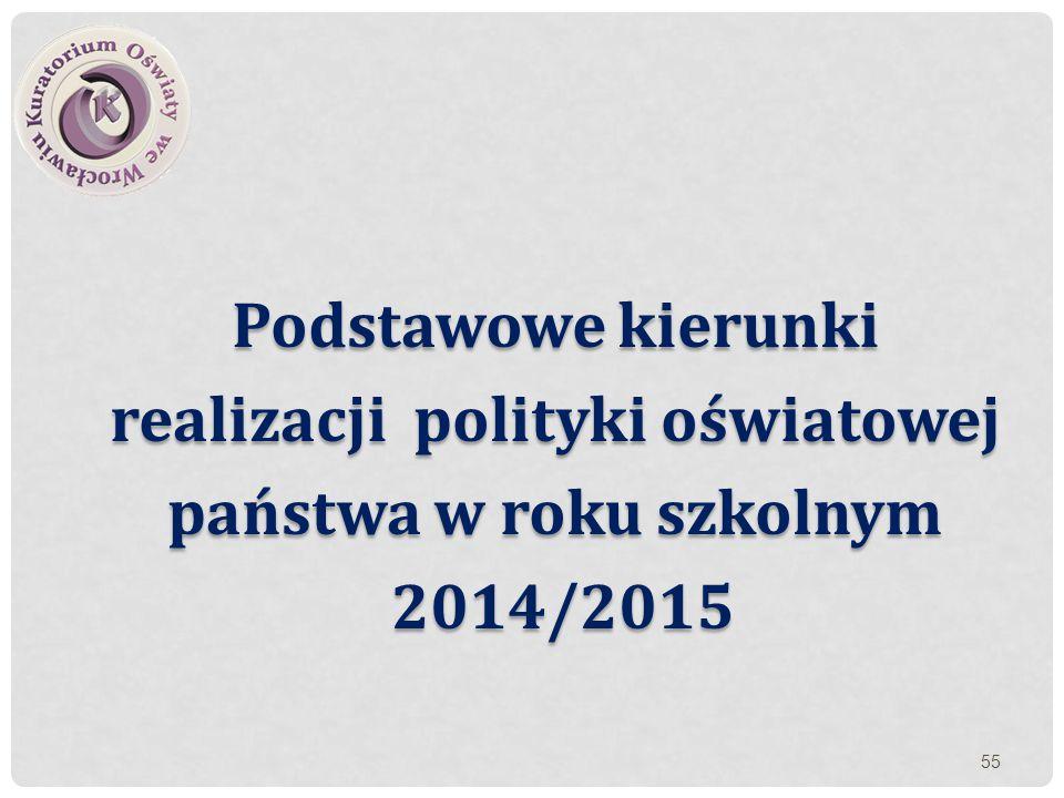 realizacji polityki oświatowej państwa w roku szkolnym