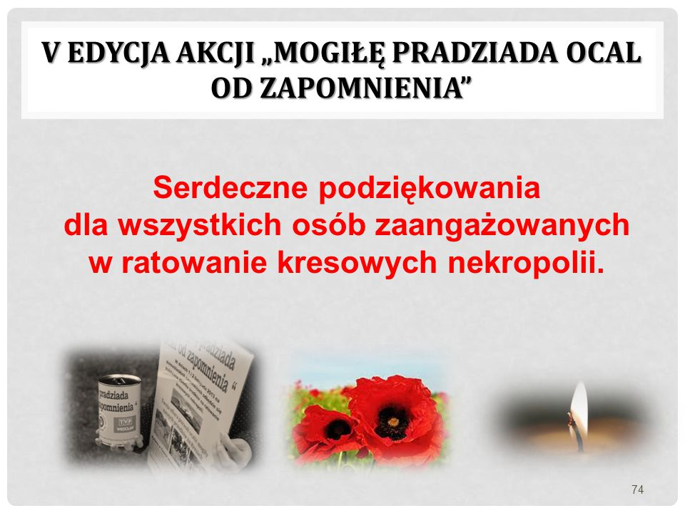 """V edycja akcji """"Mogiłę pradziada ocal od zapomnienia"""