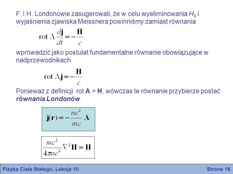 Fizyka Ciała Stałego, Lekcja 10 Strona 16