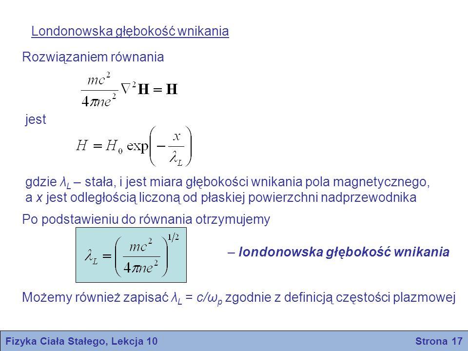 Fizyka Ciała Stałego, Lekcja 10 Strona 17