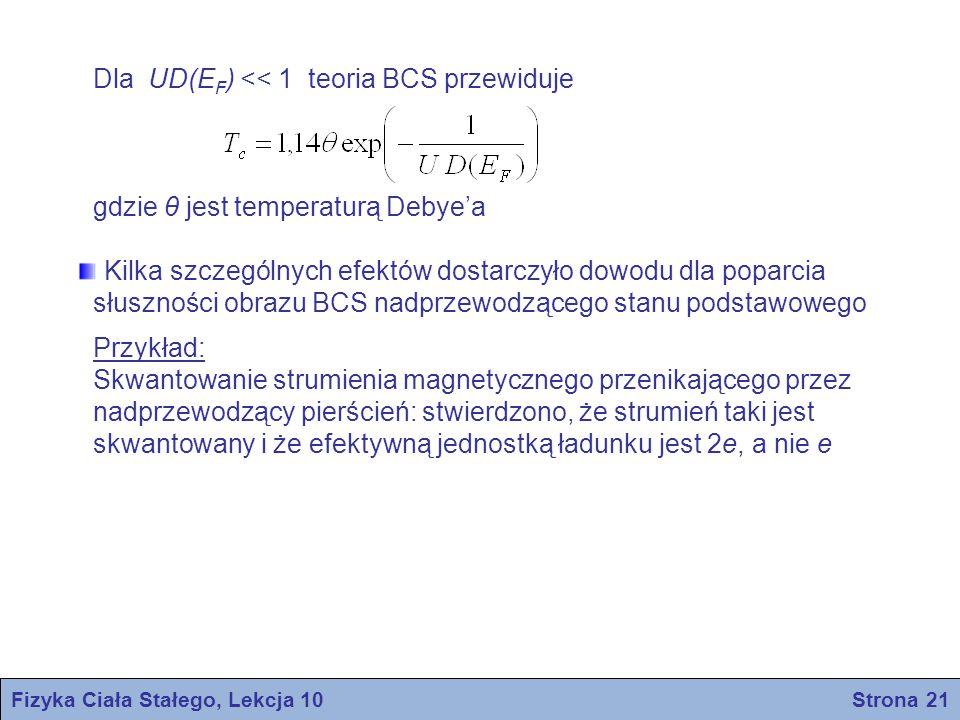 Fizyka Ciała Stałego, Lekcja 10 Strona 21