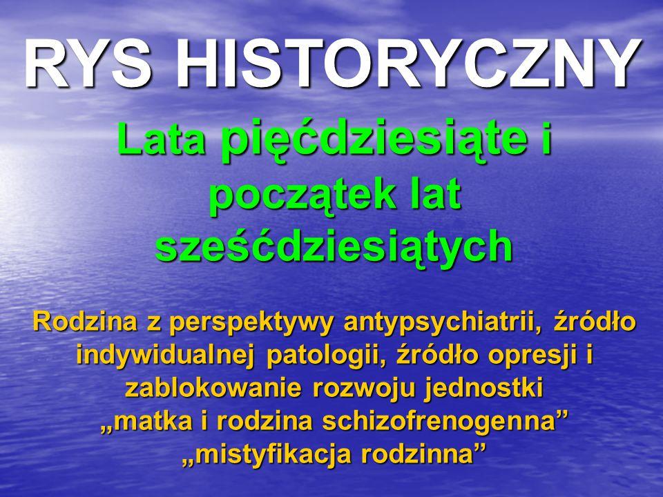 RYS HISTORYCZNY Lata pięćdziesiąte i początek lat sześćdziesiątych
