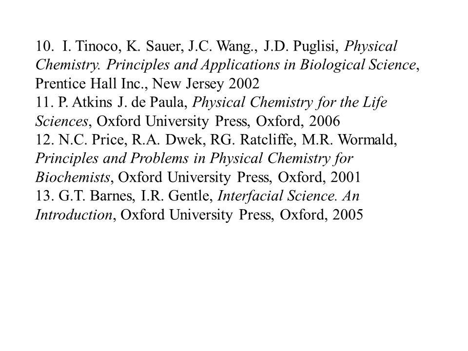 10. I. Tinoco, K. Sauer, J. C. Wang. , J. D