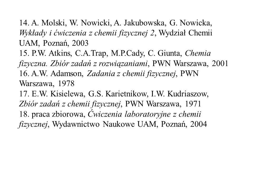14. A. Molski, W. Nowicki, A. Jakubowska, G