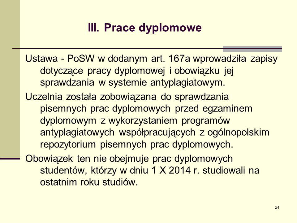 III. Prace dyplomowe