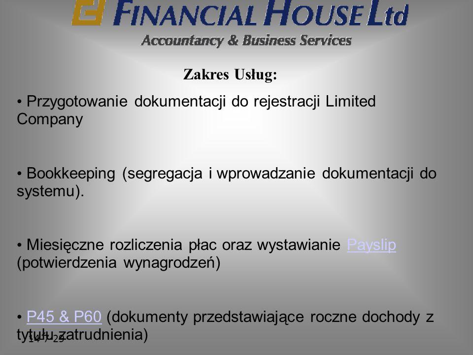 Przygotowanie dokumentacji do rejestracji Limited Company