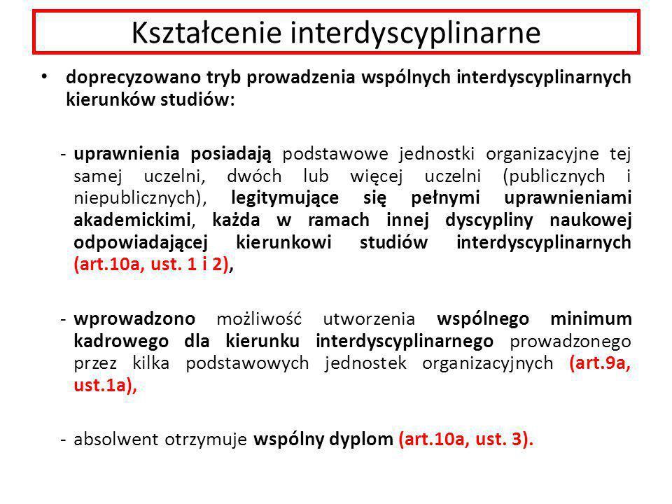 Kształcenie interdyscyplinarne
