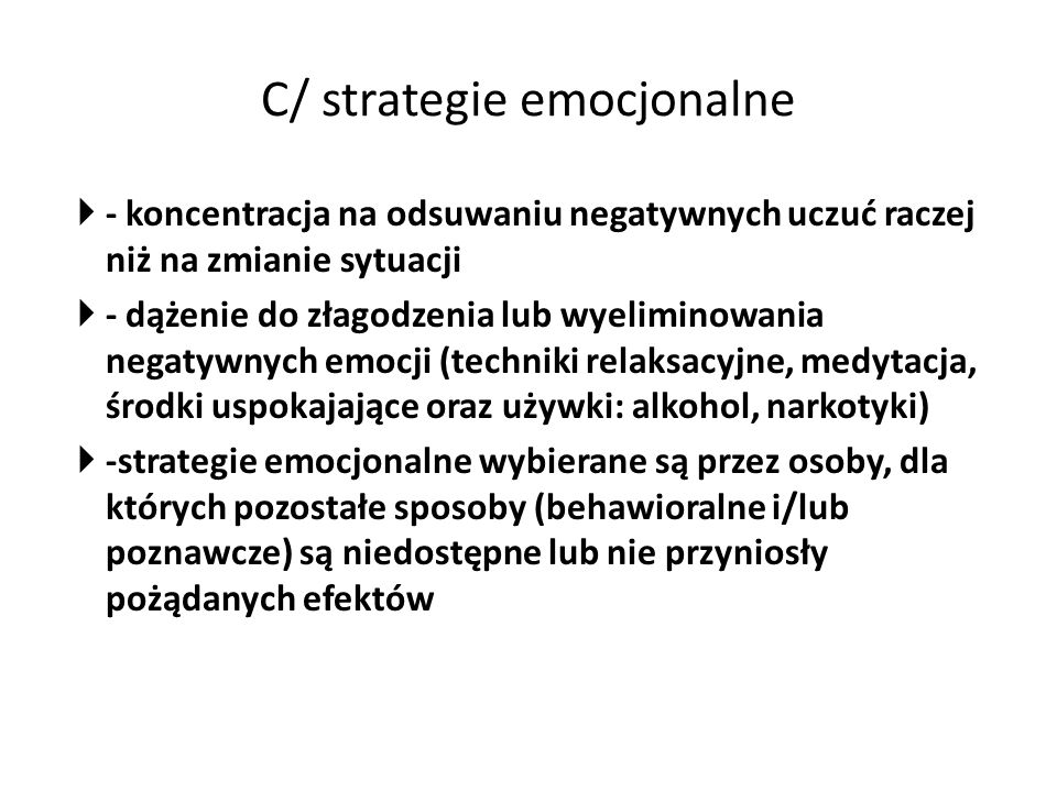 C/ strategie emocjonalne