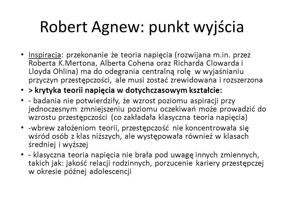 Robert Agnew: punkt wyjścia
