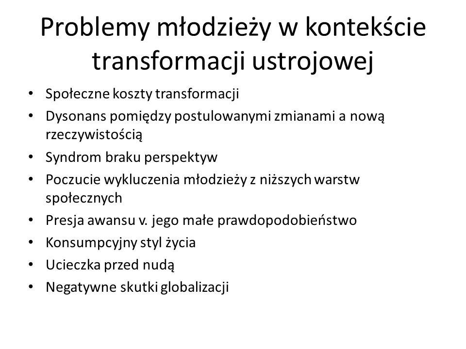 Problemy młodzieży w kontekście transformacji ustrojowej