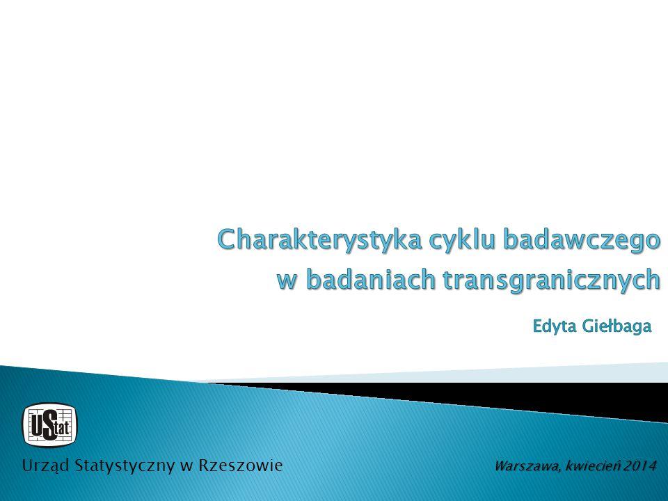 Charakterystyka cyklu badawczego w badaniach transgranicznych