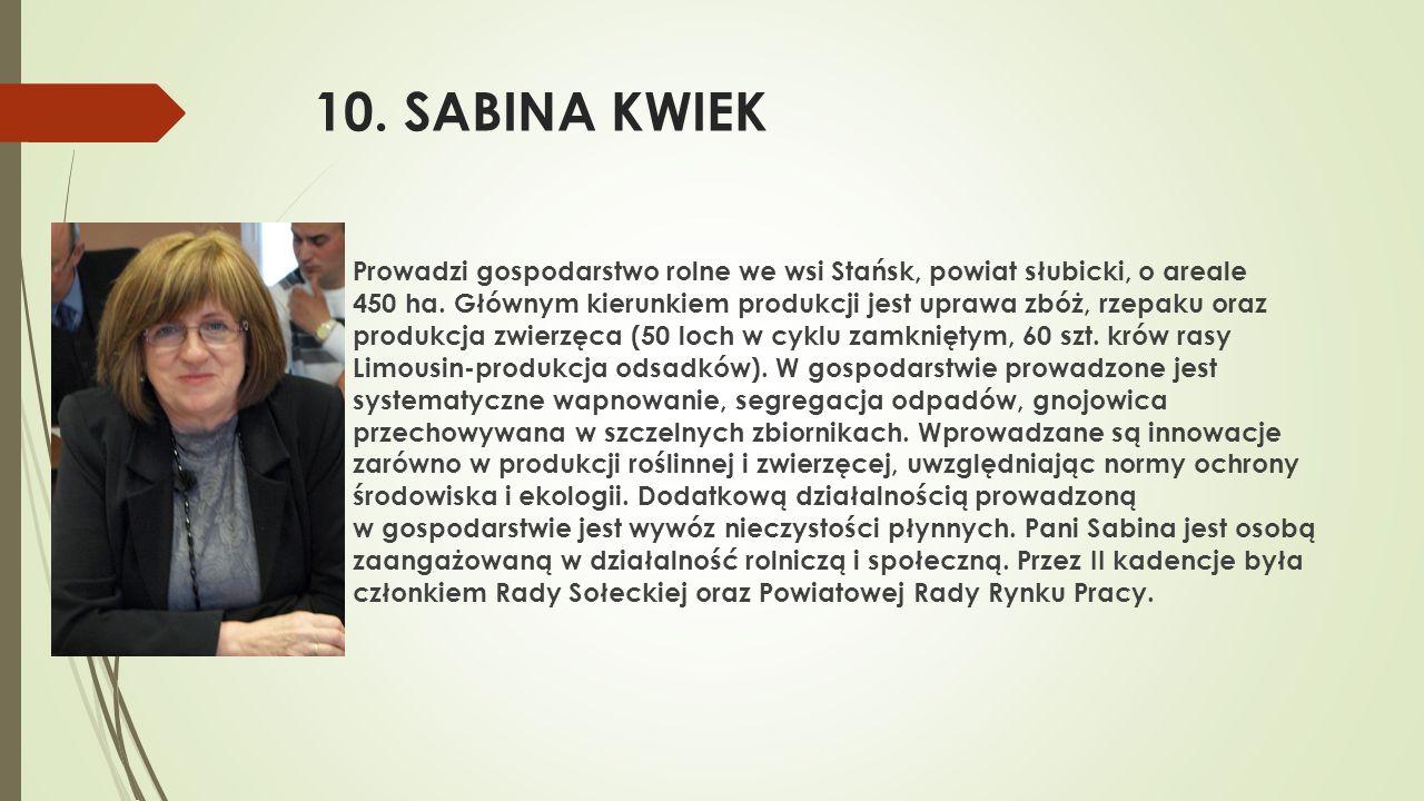 10. SABINA KWIEK