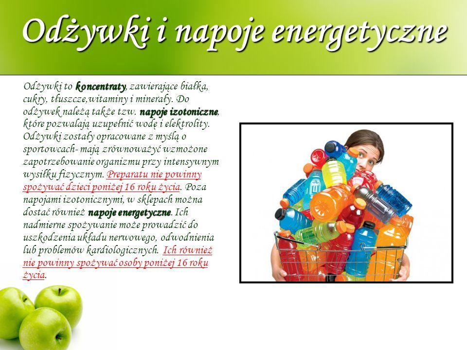 Odżywki i napoje energetyczne