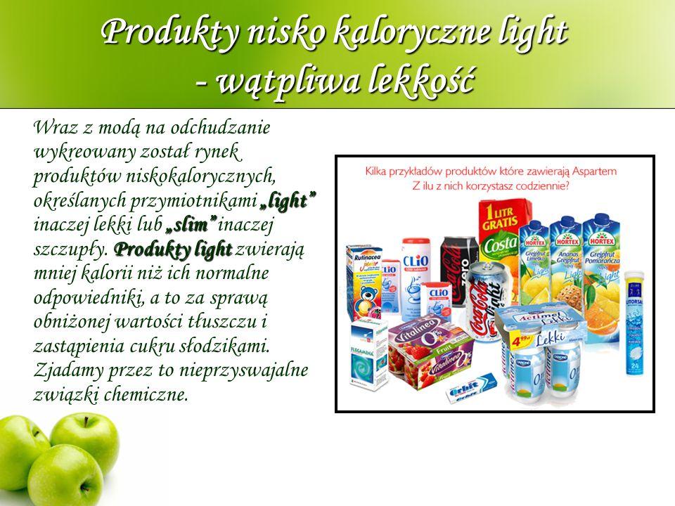 Produkty nisko kaloryczne light - wątpliwa lekkość