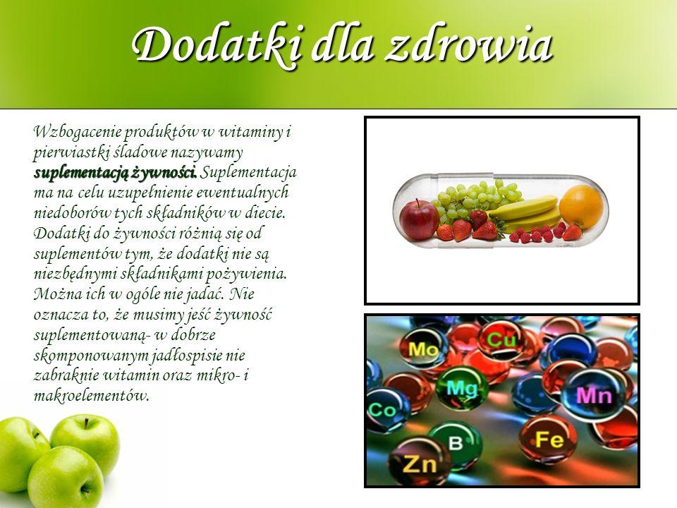 Dodatki dla zdrowia