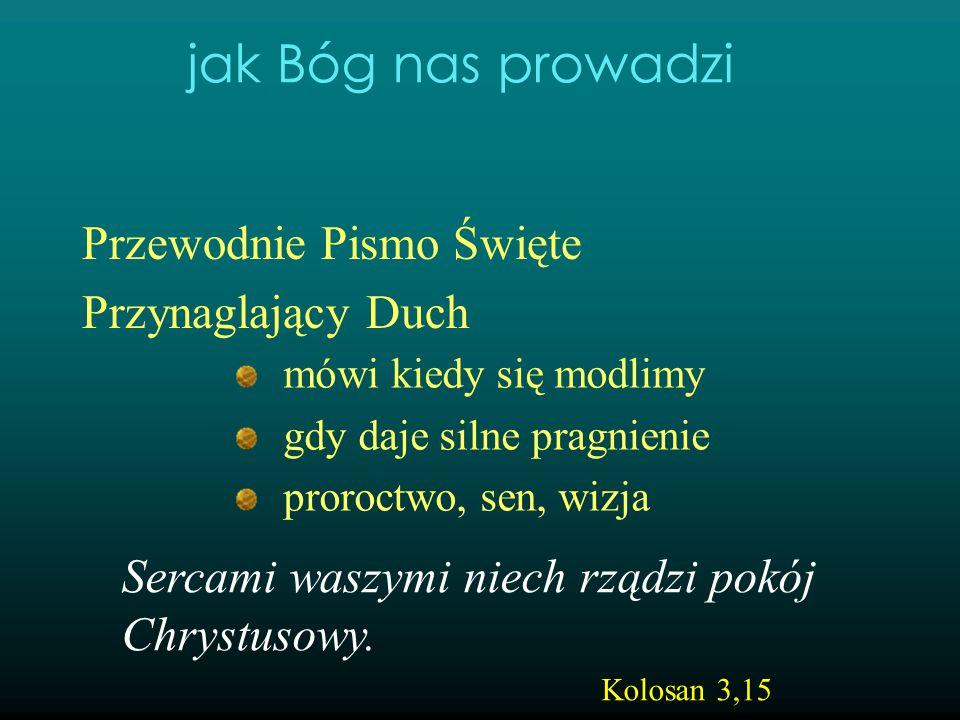 jak Bóg nas prowadzi Przewodnie Pismo Święte Przynaglający Duch