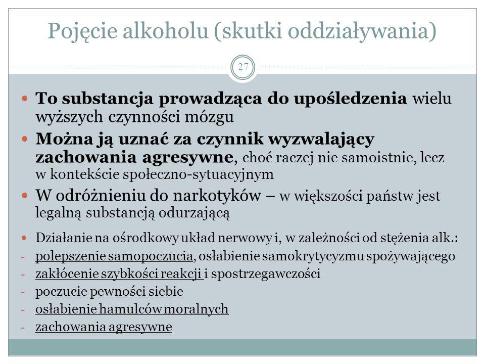 Pojęcie alkoholu (skutki oddziaływania)