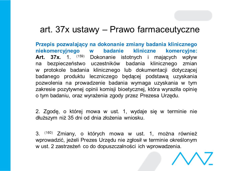 art. 37x ustawy – Prawo farmaceutyczne