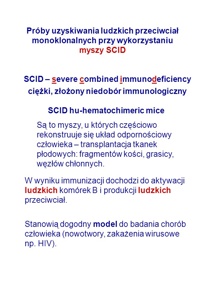 SCID – severe combined immunodeficiency
