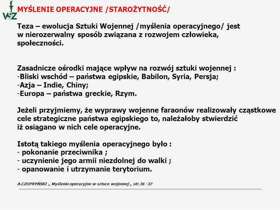 MYŚLENIE OPERACYJNE /STAROŻYTNOŚĆ/