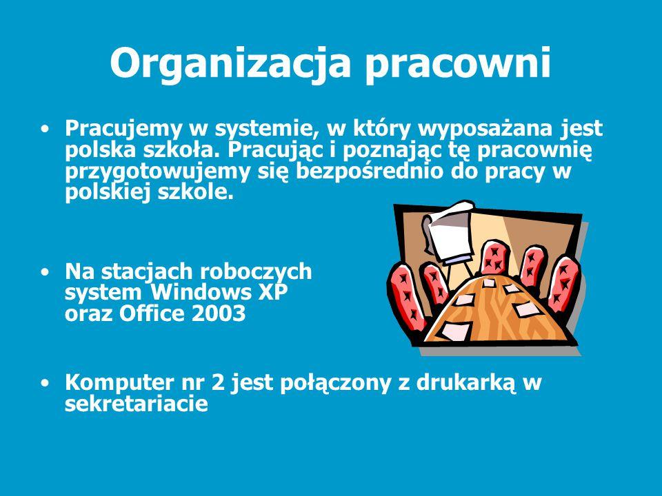 Organizacja pracowni