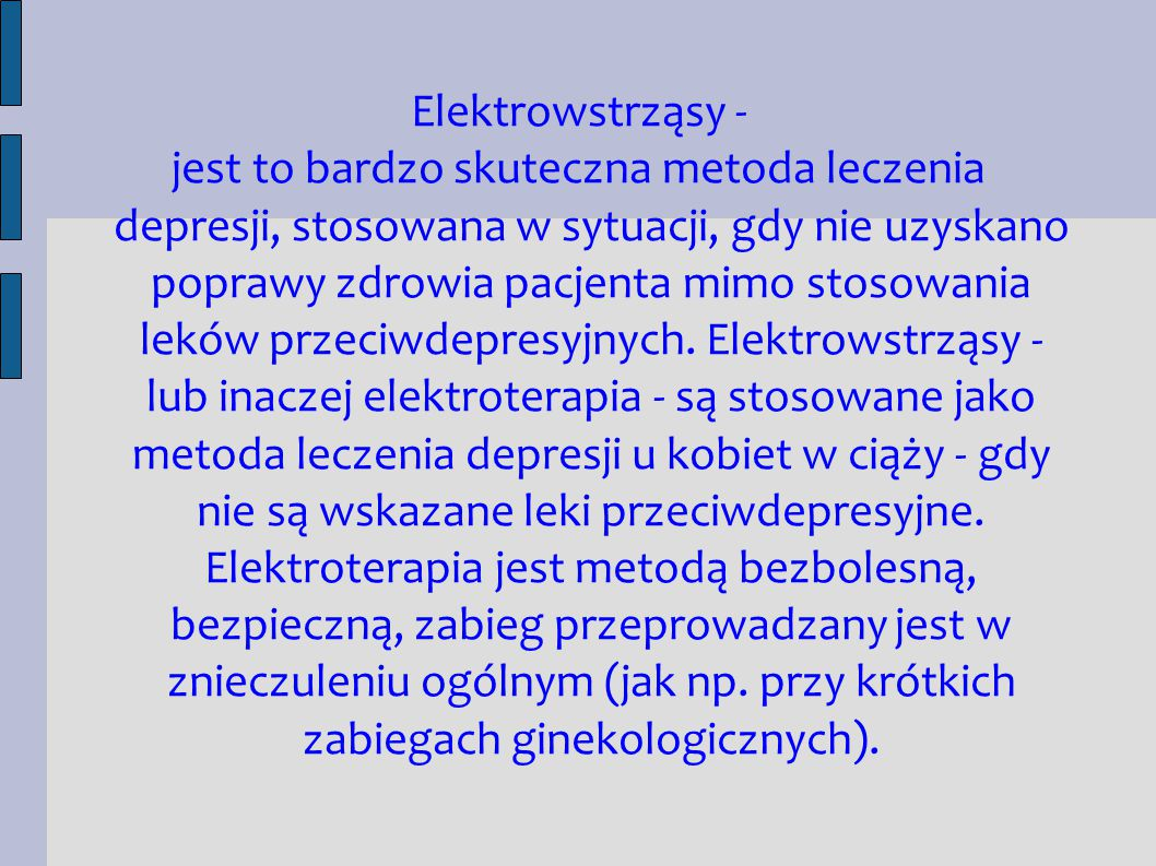 Elektrowstrząsy -