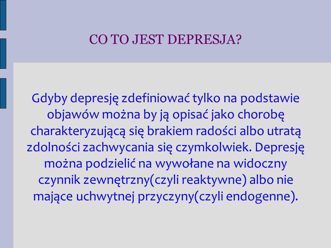 CO TO JEST DEPRESJA