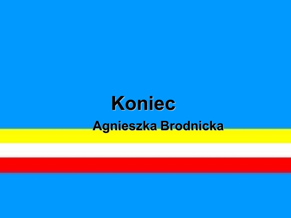 Koniec Agnieszka Brodnicka