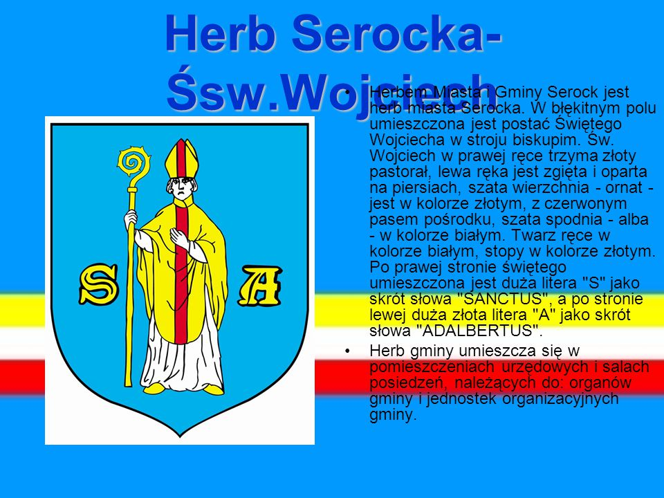 Herb Serocka-Śsw.Wojciech