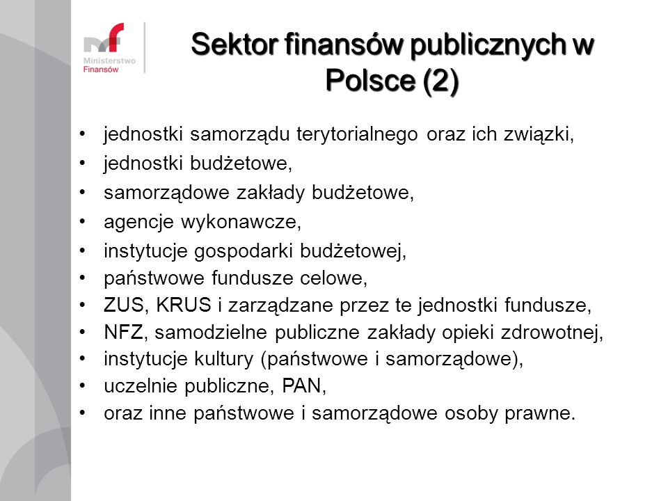 Sektor finansów publicznych w Polsce (2)