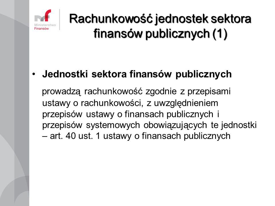 Rachunkowość jednostek sektora finansów publicznych (1)