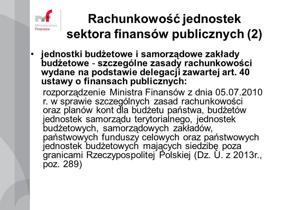 Rachunkowość jednostek sektora finansów publicznych (2)