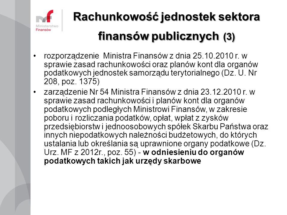 Rachunkowość jednostek sektora finansów publicznych (3)