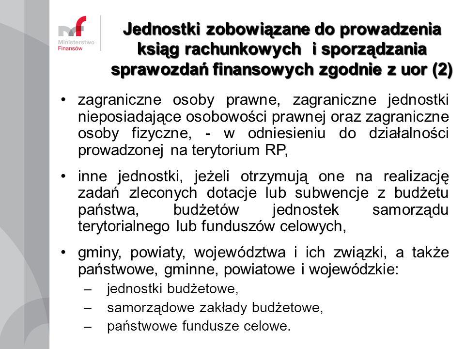 Jednostki zobowiązane do prowadzenia ksiąg rachunkowych i sporządzania sprawozdań finansowych zgodnie z uor (2)