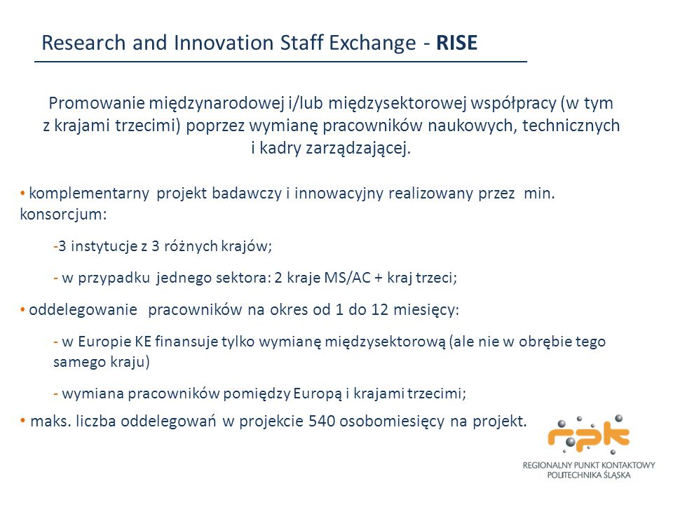 Research and Innovation Staff Exchange - RISE