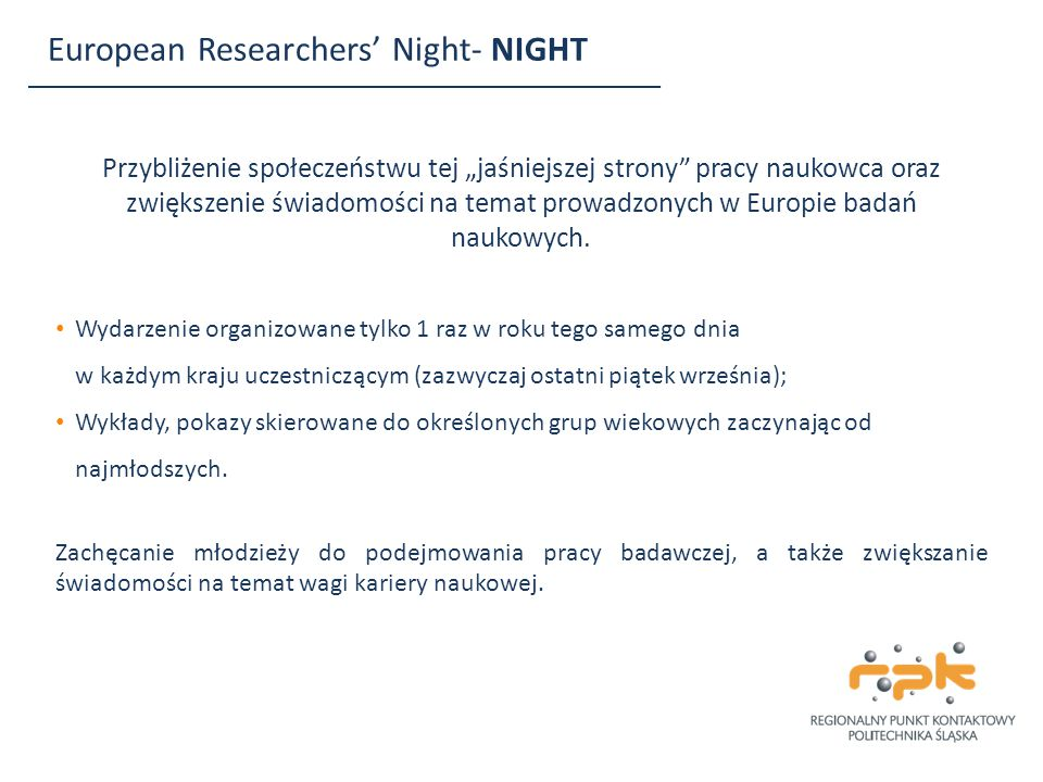 European Researchers' Night- NIGHT