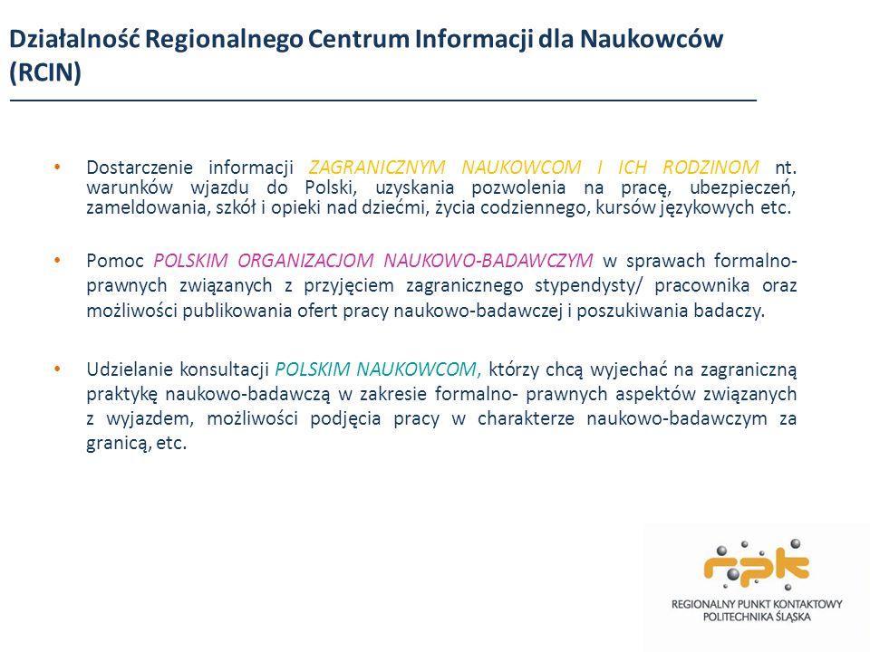 Działalność Regionalnego Centrum Informacji dla Naukowców (RCIN)