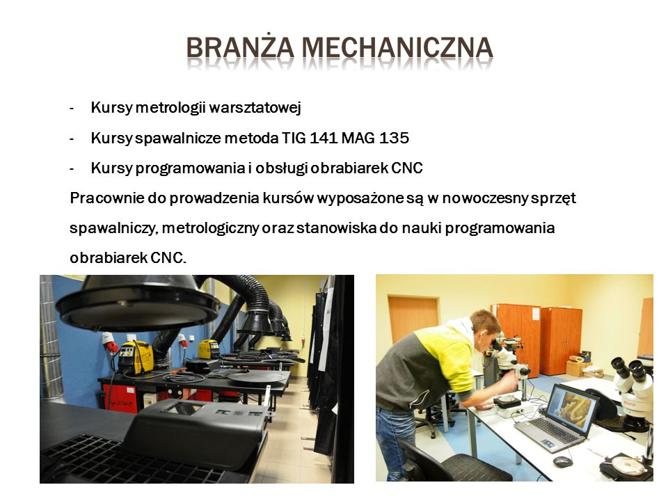 Branża mechaniczna Kursy metrologii warsztatowej