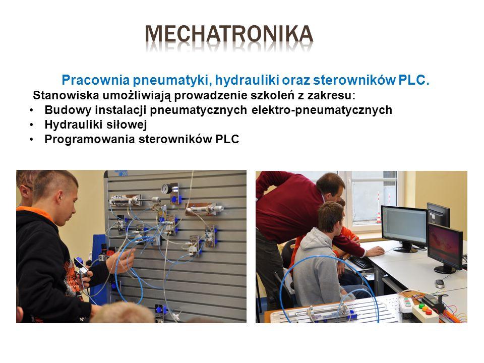 Pracownia pneumatyki, hydrauliki oraz sterowników PLC.