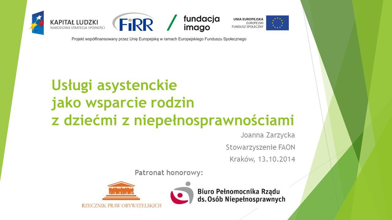 Joanna Zarzycka Stowarzyszenie FAON Kraków, 13.10.2014