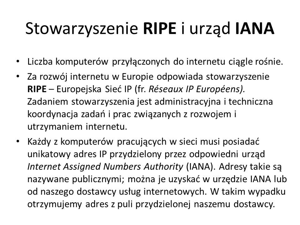Stowarzyszenie RIPE i urząd IANA