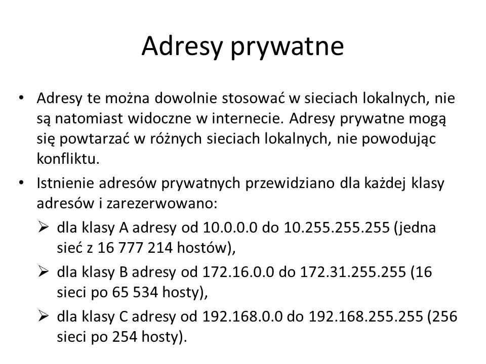 Adresy prywatne
