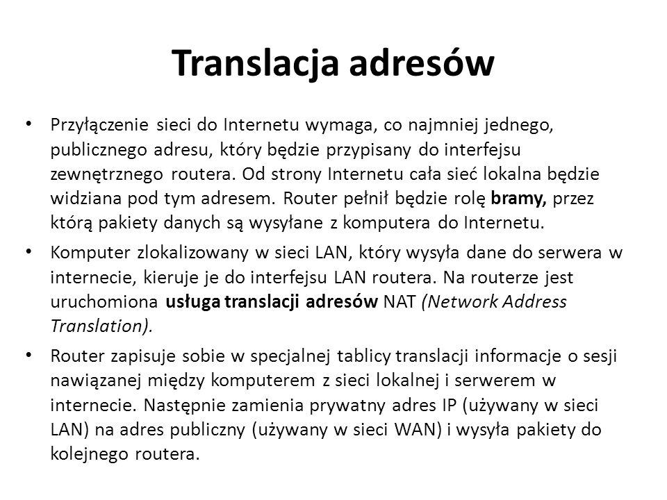 Translacja adresów