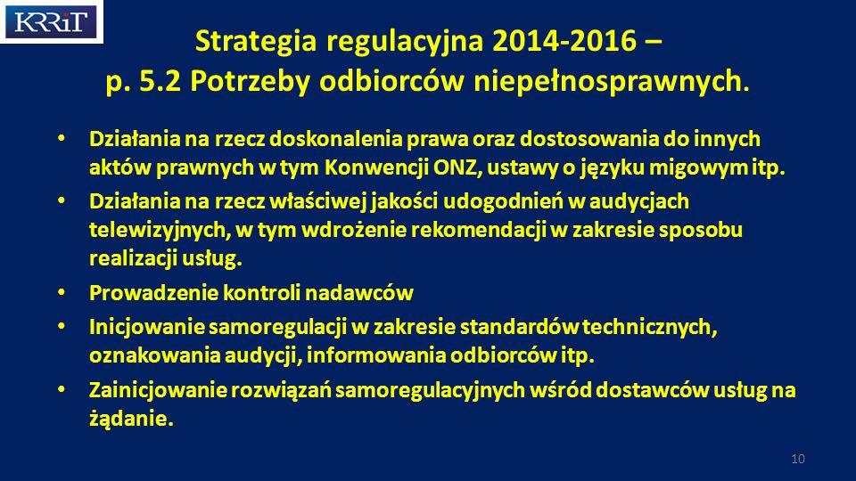 Strategia regulacyjna 2014-2016 – p. 5