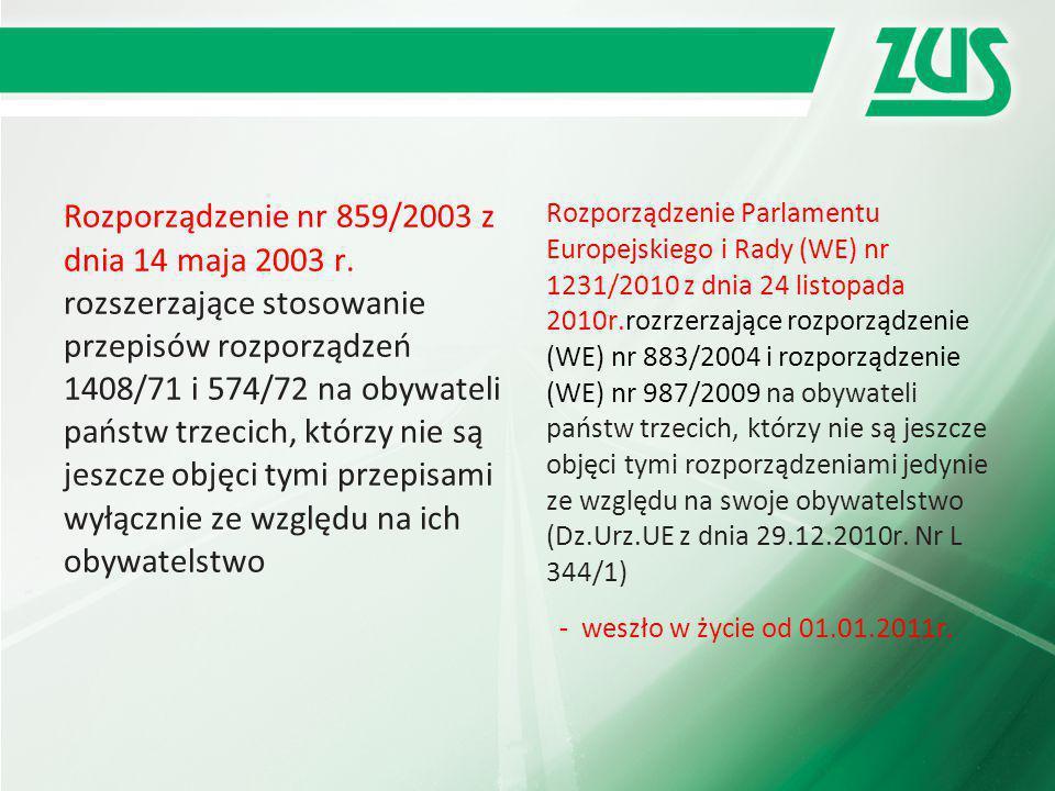 Rozporządzenie nr 859/2003 z dnia 14 maja 2003 r