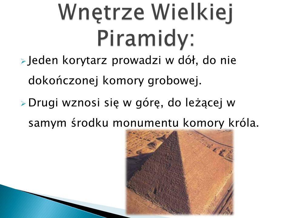 Wnętrze Wielkiej Piramidy:
